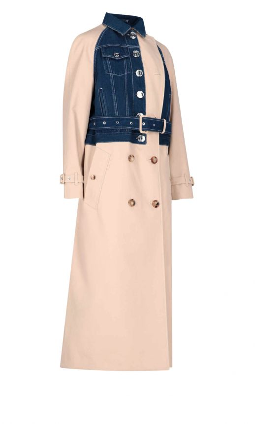 Trench Inserti Jeans