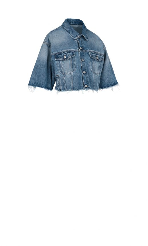 Giacca Jeans Crop
