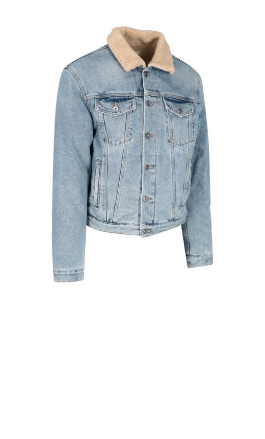 Giacca jeans eco shearling