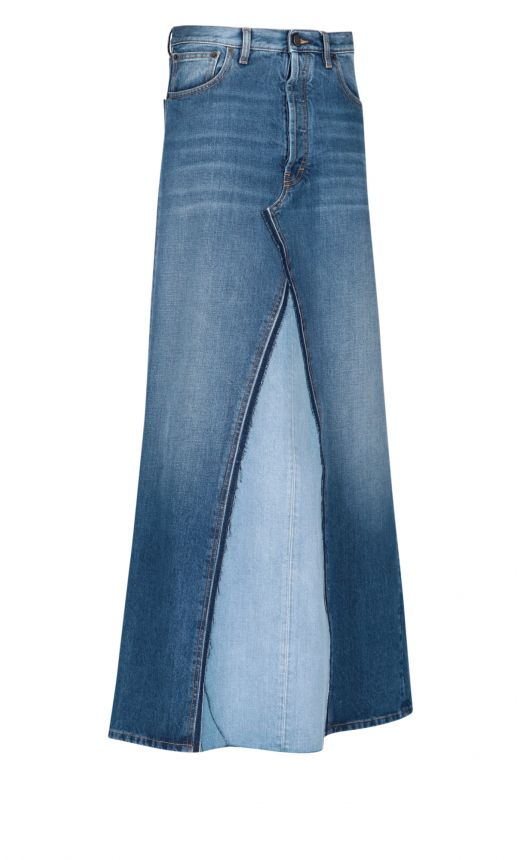 Gonna lunga jeans